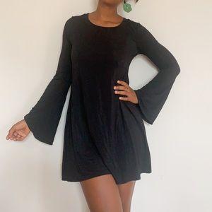 Roller Bell Sleeve Mini Dress